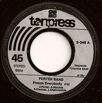 Porter Band - Freeze Everybody (7'')