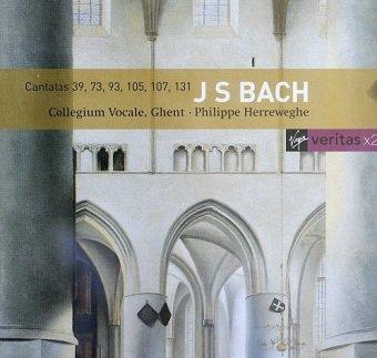 J S Bach - Collegium Vocale, Ghent, Philippe Herreweghe - Cantatas 39, 73, 93, 105, 107, 131 (CD)
