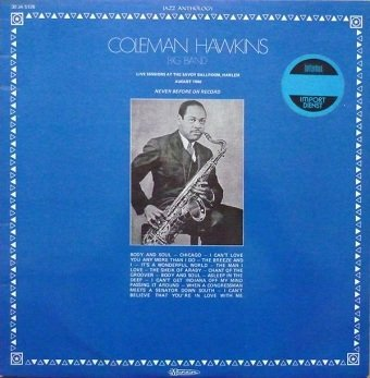 Coleman Hawkins Big Band - Live Sessions At The Savoy Ballroom, Harlem (LP)