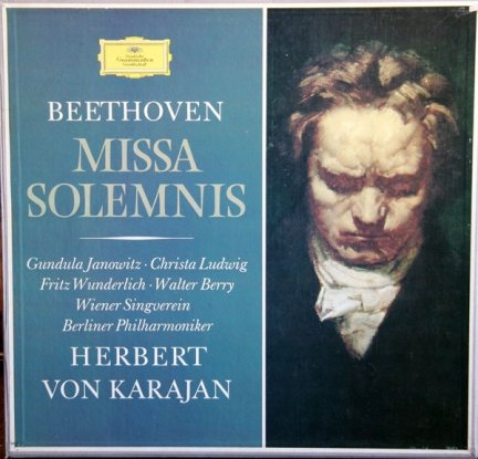 Beethoven - Gundula Janowitz, Christa Ludwig, Fritz Wunderlich, Walter Berry, Wiener Singverein, Berliner Philharmoniker, Herbert von Karajan - Missa Solemnis D-dur Op. 123 (2LP)
