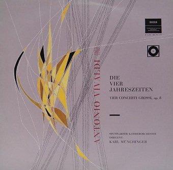 Antonio Vivaldi, Stuttgarter Kammerorchester Dirigent: Karl Münchinger - Die Vier Jahreszeiten - Vier Concerti Grossi, Op. 8 (LP)