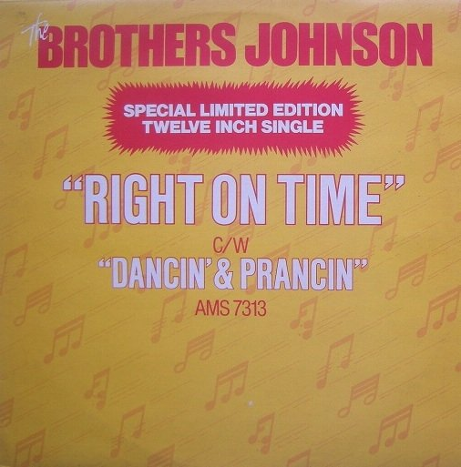 The Brothers Johnson - Right on Time (12'')