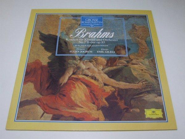 Brahms / Berliner Philharmoniker / Eugen Jochum / Emil Gilels - Konzert Für Klavier Und Orchester Nr. 2 B-Dur Op. 83 (LP)