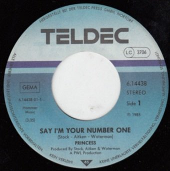 "Princess - Say I'm Your No. 1 (12"")"