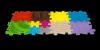 Puzzle SENSORYCZNE MUFFIK 5 el. Mata Ortopedyczna 3D