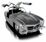 MERCEDES BENZ 300SL Auto Welly METALOWY MODEL 1:24