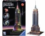Empire State Building Nocą Led Puzzle 3D 216