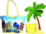 TORBA PLAŻOWA na plażę SHOPPER BAG Torebka 50 x 38
