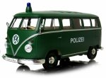 1963 VOLKSWAGEN T1 BUS POLIZEI Auto METAL MODEL Welly 1:24