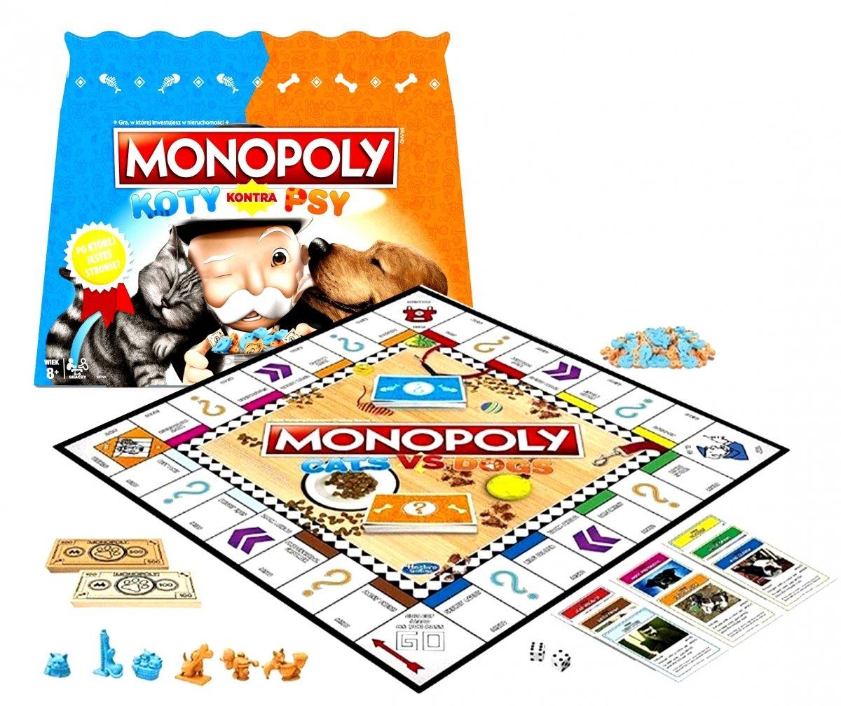 Koty Kontra Psy Monopoly Gra Planszowa Hasbro Gry Towarzyskie Gry Zabawki