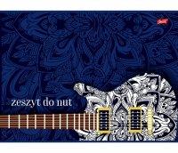 DUŻY ZESZYT DO NUT Gitara A4 16 Kartkowy