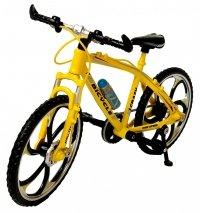 Rower SPORTOWY METALOWY Model 1:10 GÓRSKI Żółty