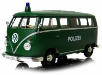 1963 VOLKSWAGEN T1 BUS POLIZEI Auto METAL MODEL Welly 1:24