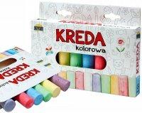 KREDA Kolorowa GRUBA Chodnikowa 8 Kolorów