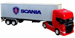 Tir SCANIA V8 R730 50 cm NACZEPA Welly METAL 1:32