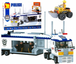 Klocki Zestaw POLICJA 23609 TIR 322 el GRATIS