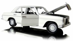 MERCEDES BENZ 220 Biały METALOWY MODEL AUTO Welly 1:24