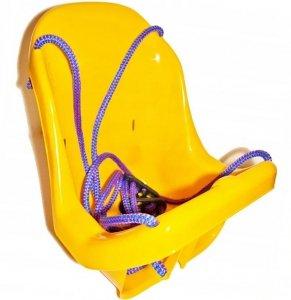 DUŻA HUŚTAWKA Kubełkowa dla Dzieci Krzesełko + Pasy Żółta