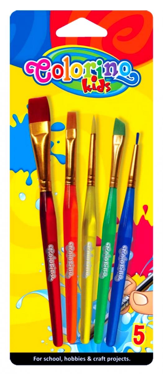 PĘDZELKI 5 sztuk Miękkie Kolorowe 32599 Colorino