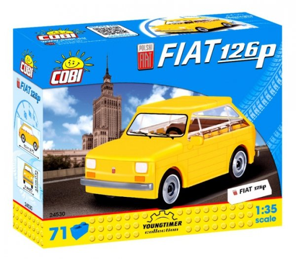 Klocki FIAT 126p Youngtimer żÓŁTY Cobi PRL 24530