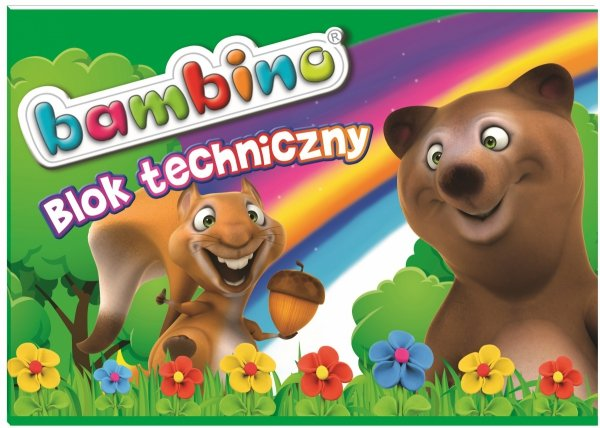 Bambino BLOK TECHNICZNY 10 kartek 200 g/m2