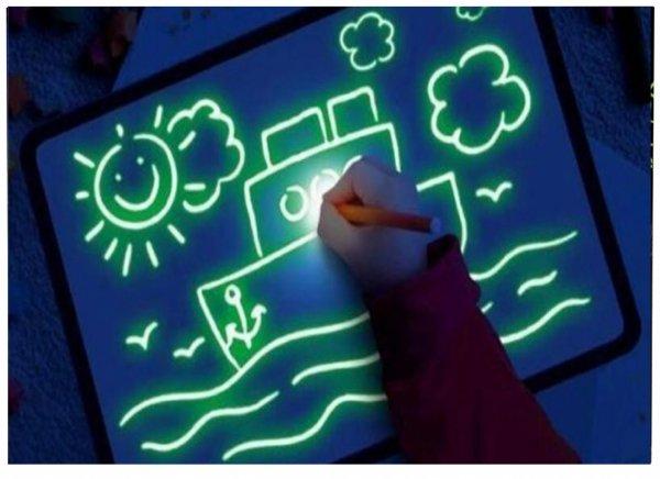 Duża TABLICA do MALOWANIA ŚWIATŁEM LED Rysowania