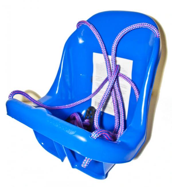 DUŻA HUŚTAWKA Kubełkowa dla Dzieci Krzesełko + Pasy Niebieska