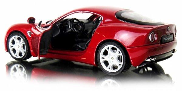 ALFA 8C COMPETIZIONE Auto METALOWY MODEL Welly 1:24