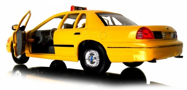 TAXI 1999 FORD CROWN VICTORIA Auto METAL Welly 1:24