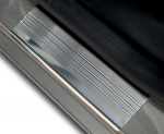 VW GOLF VI 5D HATCHBACK 2008-2012 Nakładki progowe - stal + poliuretan [ 8szt ]