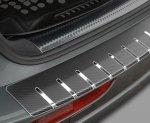 BMW X1 2009-2013 Nakładka na zderzak z zagięciem (stal + folia karbonowa)
