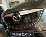MAZDA CX-5 I KE 2012-2014 Nakładki na grill stal połysk