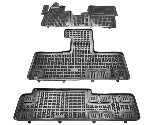 Dywaniki korytka gumowe Citroen Spacetourer / Peugeot Traveller / Toyota ProAce Verso II od 2016 3-części, przód, środek, tył