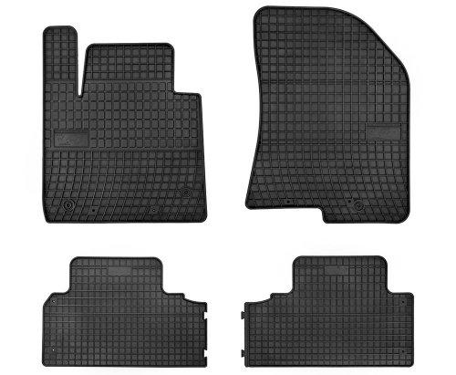 Dywaniki gumowe czarne KIA Carens IV wersja 5-osobowa od 2013