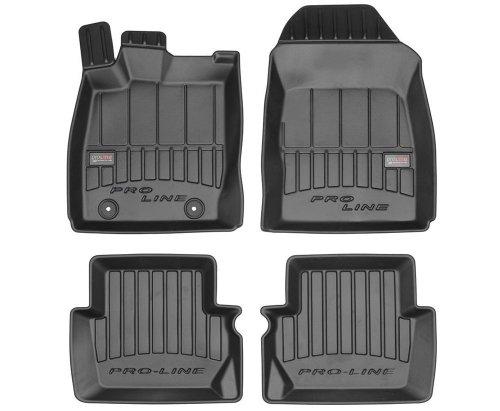 Dywaniki gumowe 3D do Ford Fiesta VI 2008-2017 rozstaw stoperów 25,5 cm