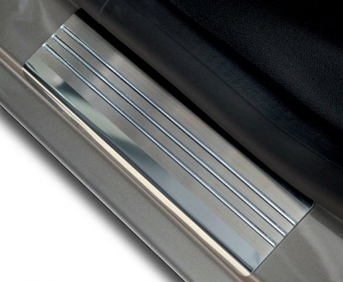 KIA PICANTO II 3D HATCHBACK od 2011 Nakładki progowe - stal + poliuretan [ 2szt ]