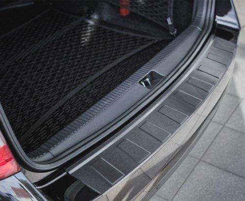 Nissan Note I 2006-2008 Nakładka na zderzak TRAPEZ Czarna szczotkowana