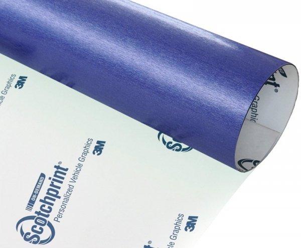 Folia szczotkowana niebieska stal 3M BR217 120x100cm