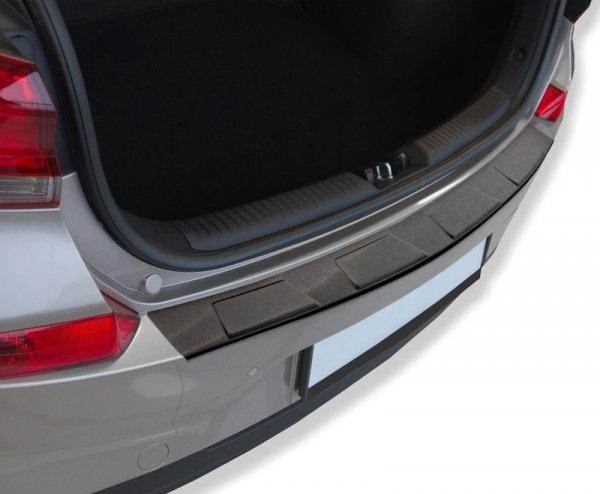 Audi Q2 od 2017 Nakładka na zderzak 4 TRAPEZ Czarna satynowa
