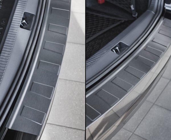 AUDI A6 C7 Allroad od 2016 Nakładka na zderzak TRAPEZ Czarna szczotkowana