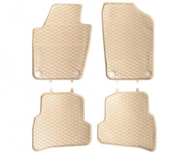 Dywaniki gumowe beżowe Seat Ibiza IV 2008-2017 / Vw Polo V 2009-2017