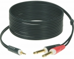 KLOTZ AY5-0200 kabel 1x mini jack - 2x jack 2m