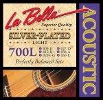 La Bella 700L Silver Plated struny do gitary akustycznej 9-50