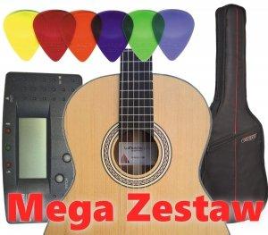 Gitara klasyczna La Mancha LSM Mega Zestaw