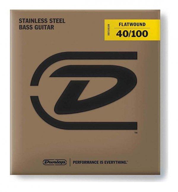 Dunlop DBFSS040100 struny basowe stal flaty 40-100 skala krótka