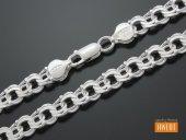 GARIBALDI łańcuch srebrny 50 cm / 8 mm