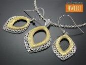 BORGIA srebrny komplet biżuterii złocenie