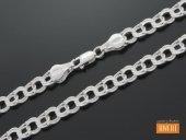 GARIBALDI łańcuch srebrny 55 cm / 6 mm