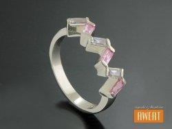 CALLELA srebrny pierścionek z cyrkoniami roz.16