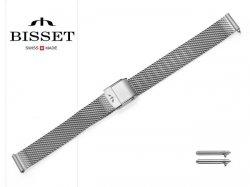 BISSET 12 mm bransoleta stalowa mesh BM101 srebrna mat